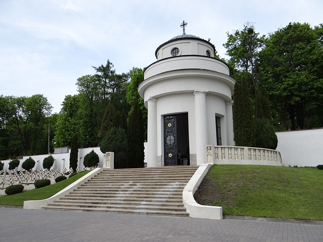 The Cemetery Of Lwów Eaglets, Chapel Poland, Lions