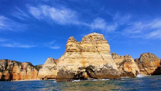 Portugal, Lagos, Sea, The Cliffs