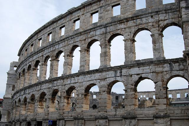 The Coliseum, Pula, Pula Arena, Croatia, Monuments