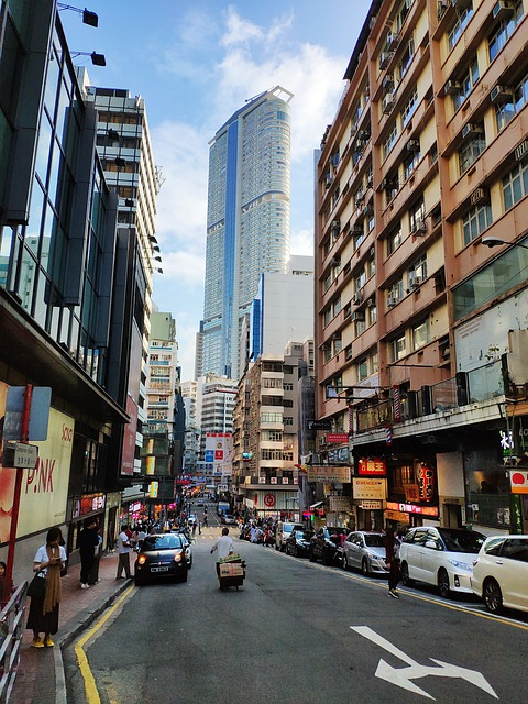 Street View, Road, Downtown, Hong Kong, The Crowd