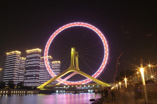 The Ferris Wheel, Tianjin, The Night, Lantern