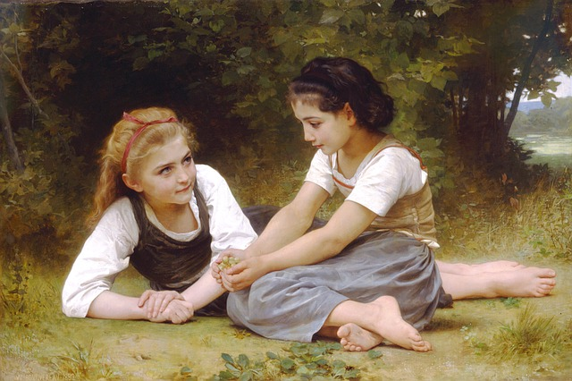 William, Adolf, Bouguereau, The Fruit Picking