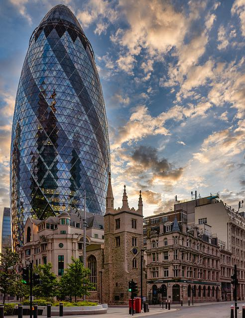 London, Building, The Gherkin, 30 St Mary Axe
