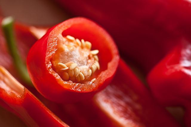 Paprika, Fruit, The Inside Of The Peppers