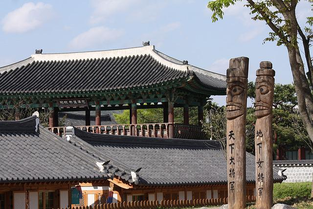 The Korean Totem Pole, Village, Roof Tile, Traditional