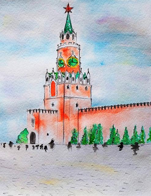 The Kremlin, Moscow, Spasskaya Tower, Russia, City