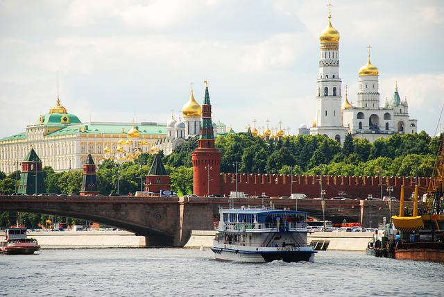 Moscow, The Kremlin, River, Navigation