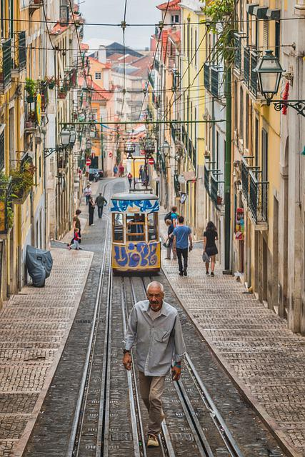 Lisbon, Tram Streetcar, The Lisbon Tram, People