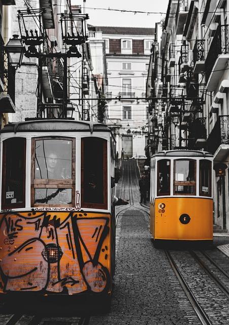 Lisbon, Trams, Tram, The Lisbon Trams, Old