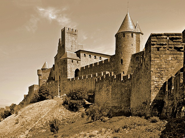 Carcassonne, France, The City Walls, The Middle Ages