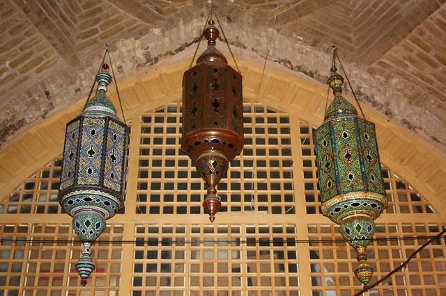 Esfahan, The Mosque, Iran, Lamp