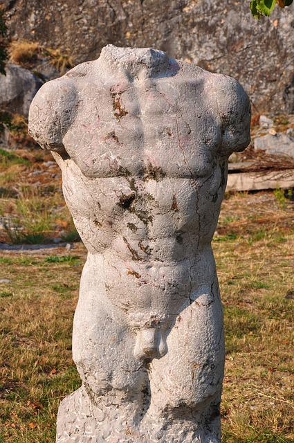 Stone Sculpture, The Mountain Is A Symbol Of