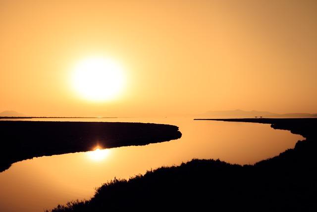 The Mouth, River, Sea, Sun, Water, Landscape, Greece