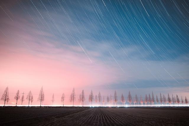 The Night Sky, Night View, Starlight, Korea, Road