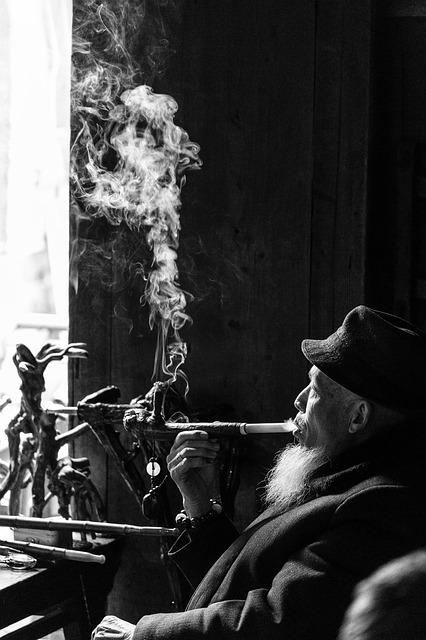 Peng Town, The Old Man, Black And White, Tea House