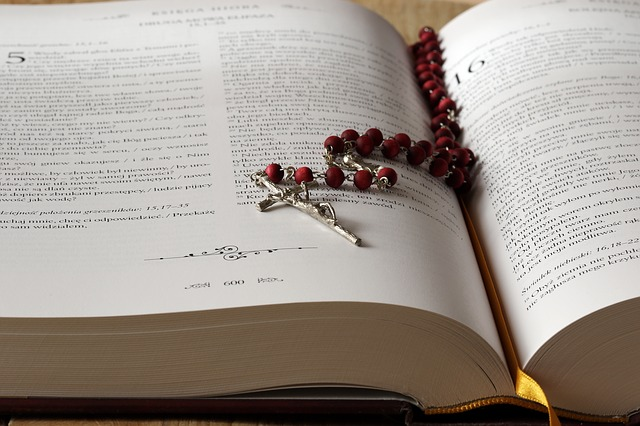 The Rosary, Bible, The Scriptures, Cross, Prayer, Pray