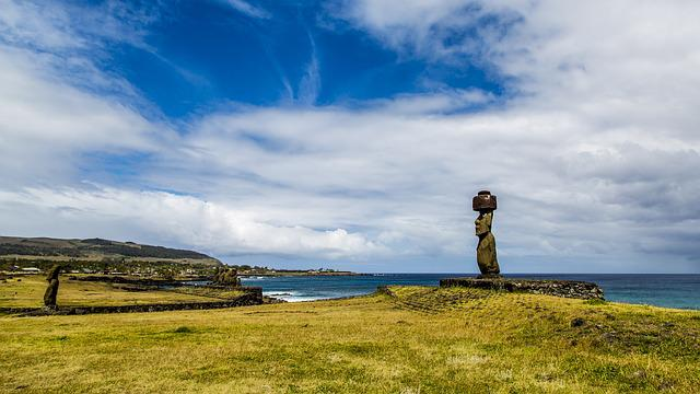 The Scenery, Easter Island, Blue Sky, Rapa Nui