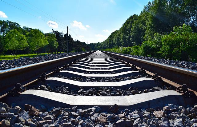 White Cloud, Blue Sky, Railway, Outdoor, The Scenery