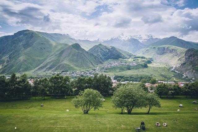 Mount Kazbek, The Scenery, White Cloud, Georgia