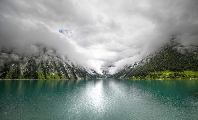 The Schlegeis Reservoir, Tyrol, Zillertal, Alpine
