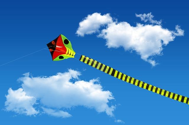 Kite, Autumn, Venturing, The Sky, Children, Color