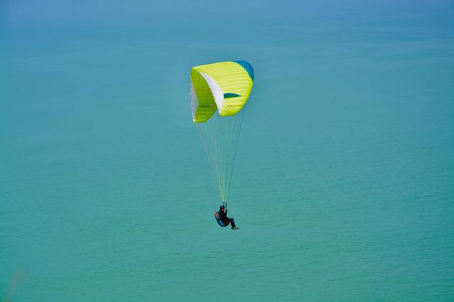 Paragliding, Paragliding Flight Over Sea, The Sleeve