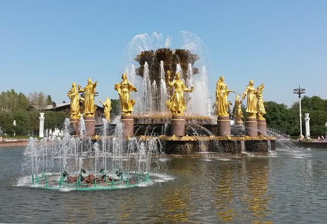 Moscow, Enea, The Ussr, Russia, Soviet, Fountain, Water