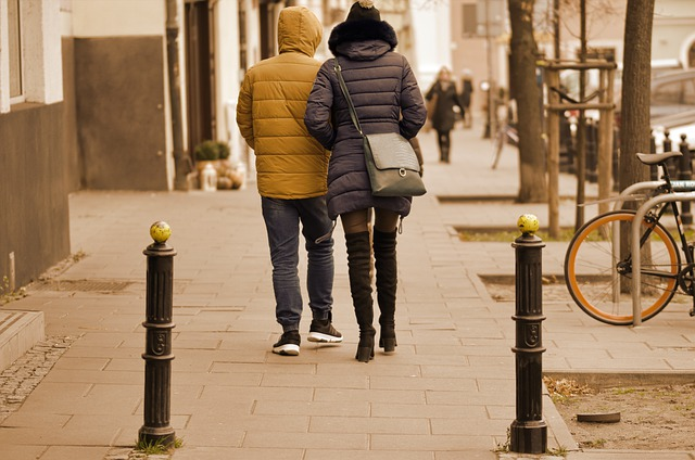 The Young Couple, People, Woman, Get, Man, The Walking
