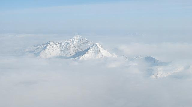 Snow Mountain, Aerial, The Yellow Dragon