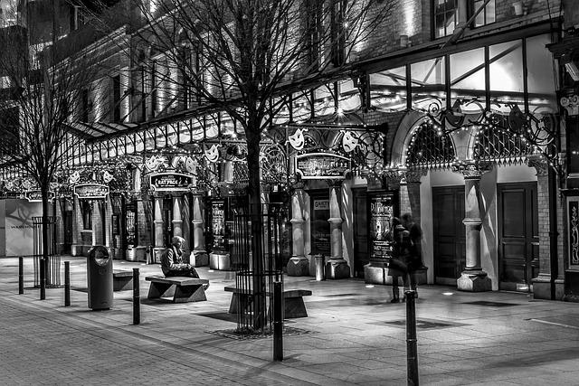 Night, Theater, Street, Dublin