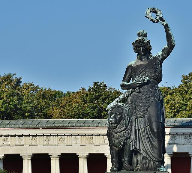 Bavaria, Theresienwiese, Munich, Statue, Art, Monument