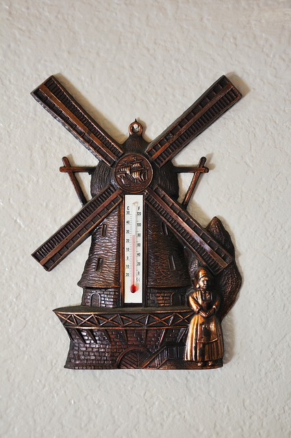 Thermometer, Temperature, Weather, Windmill