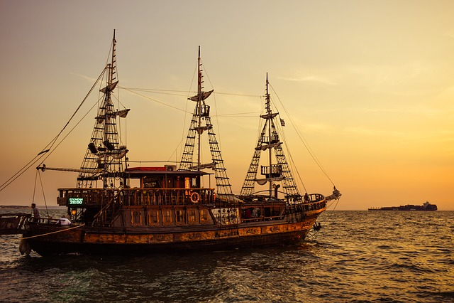 Greece, Thessaloniki, Sunset, Sailing Vessel, Cruises