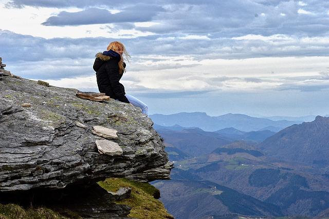 Horizon, Mountain, Thinking, Meditation, Background