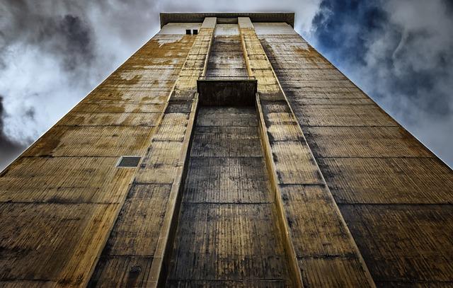 Tower, Factory, Headframe, Threatening, Industry