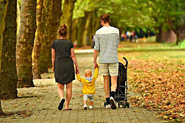 Woman, Man, Child, Couple, Parent, Family, Three