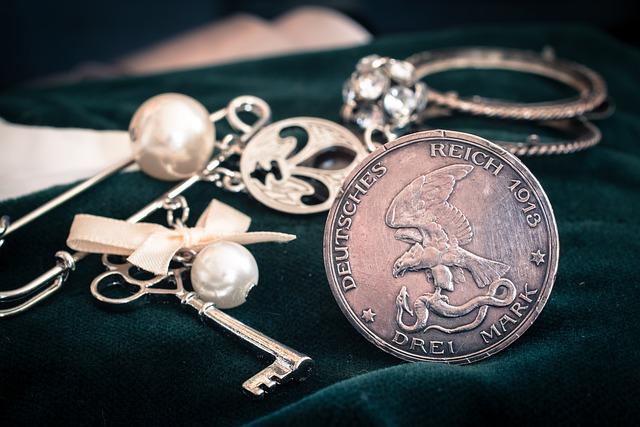 Silver Coin, Mark, German, Reichsmark, Three