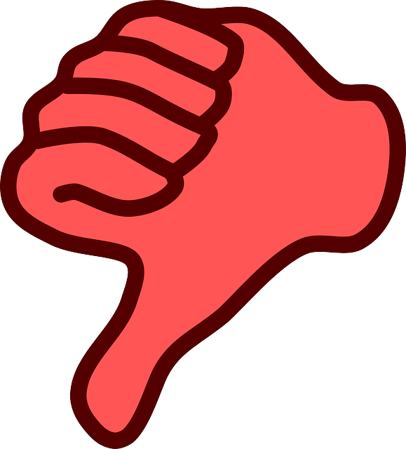 Dislike, Hand, Thumb, Down, No, Red
