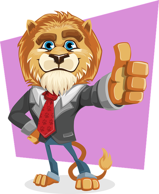 Lion, King, Animal, Business, Suit, Tie, Thumbs Up