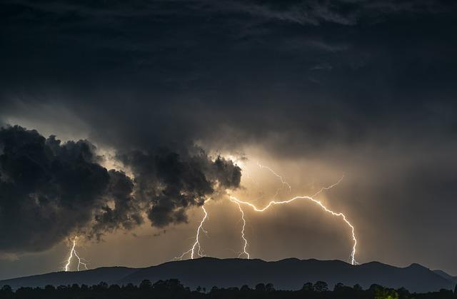 Thunder, Lightning, Storm, Sky, Night, Flash