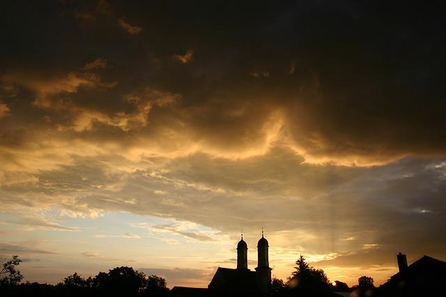 Summer, Thunderstorm, Clouds, Dusk, Sky, Silhouette