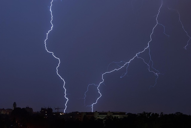 Flashes, Night, Weather, Thunderstorm, City