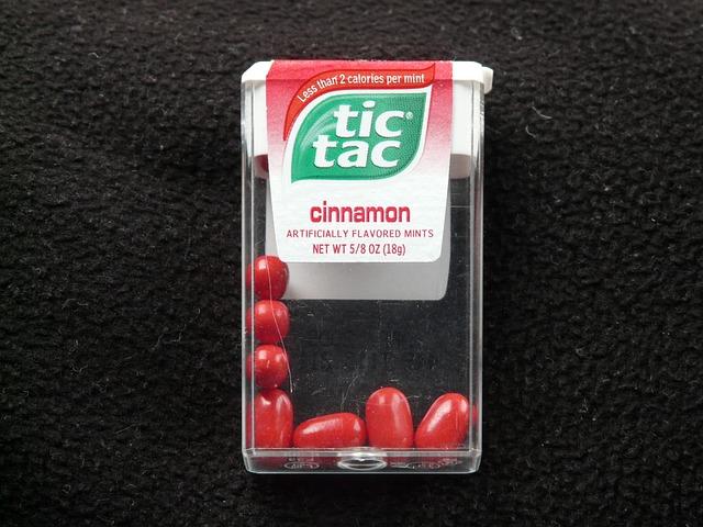 Tic Tac, Lutschdragées, Dragees, Sweetness, Red
