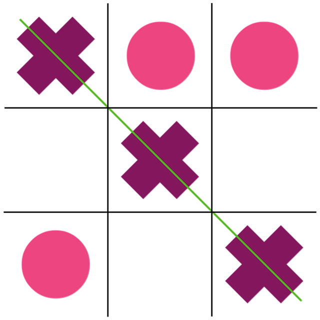 Tic-tac-toe, Games, Color Pink, Board Game