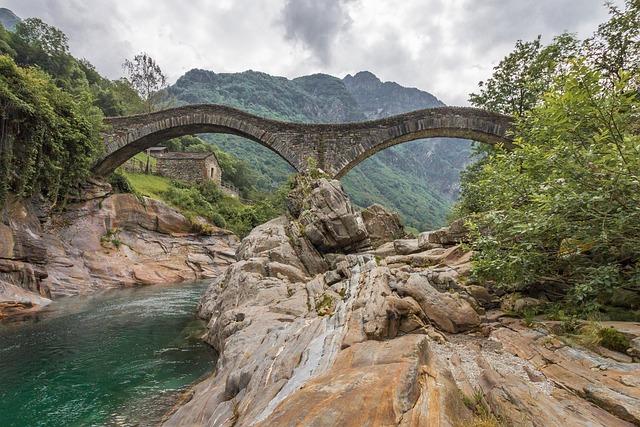 Switzerland, Mountains, Vercascatal, Ticino, Water