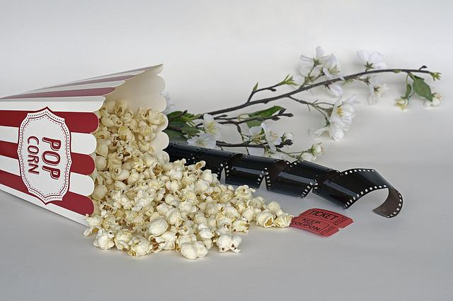 Popcorn, Cinema, Ticket, Film, Entertainment, Food