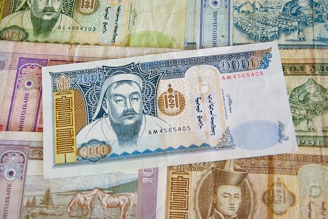 Mongolia, Money, Tickets, Banque, Genghis Khan, Tugrik