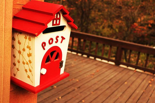 Mailbox, Letters, Card, Tidings, Red, Mail Box