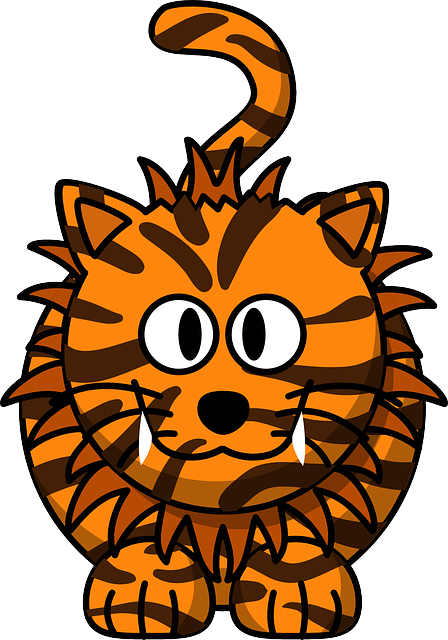 Cat, Tiger, Animal, Cute, Hybrid, Liger, Lion, Orange