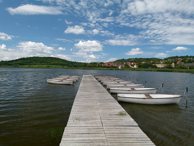 Tihany, Lake, Cloud, Plot, Sky